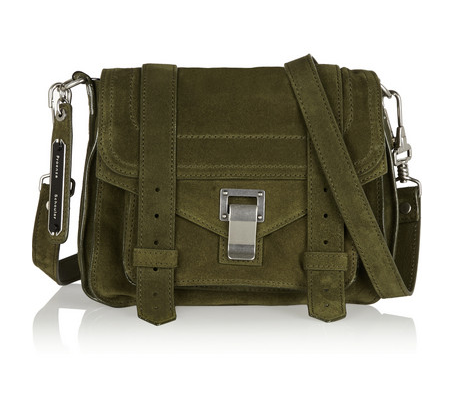 Proenza Schouler,  PS1 Small Suede Shoulder Bag