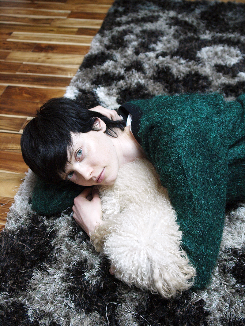 Sweet as can be, Sasha Martynyuk and Max at her home in New York City