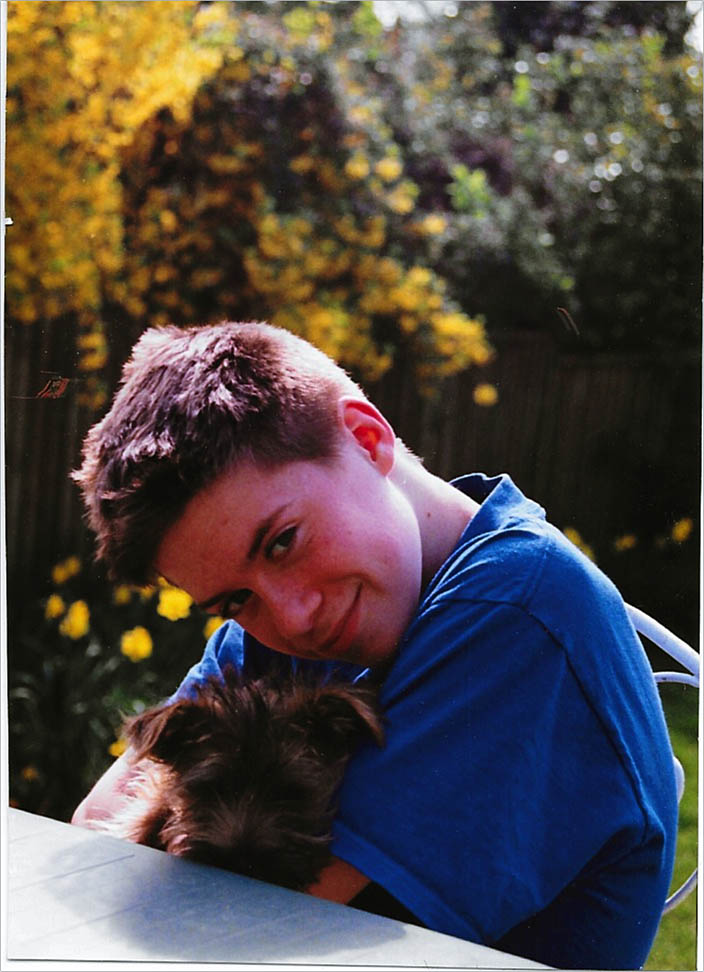 Will as a wee lad with his dog Rusty