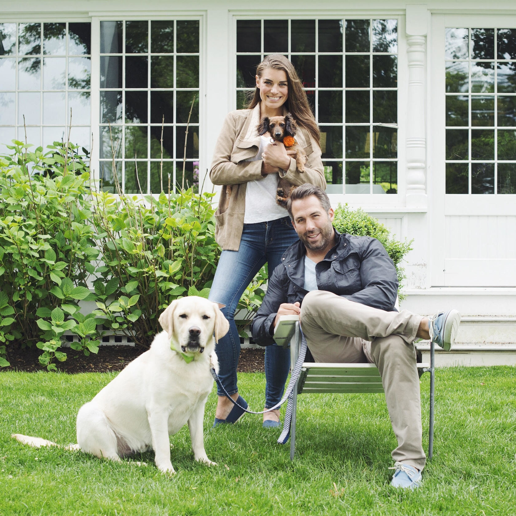 Christopher Seiger, Catherine Long, Donnie and Holly came to The Maidstone to get engaged with their dogs!