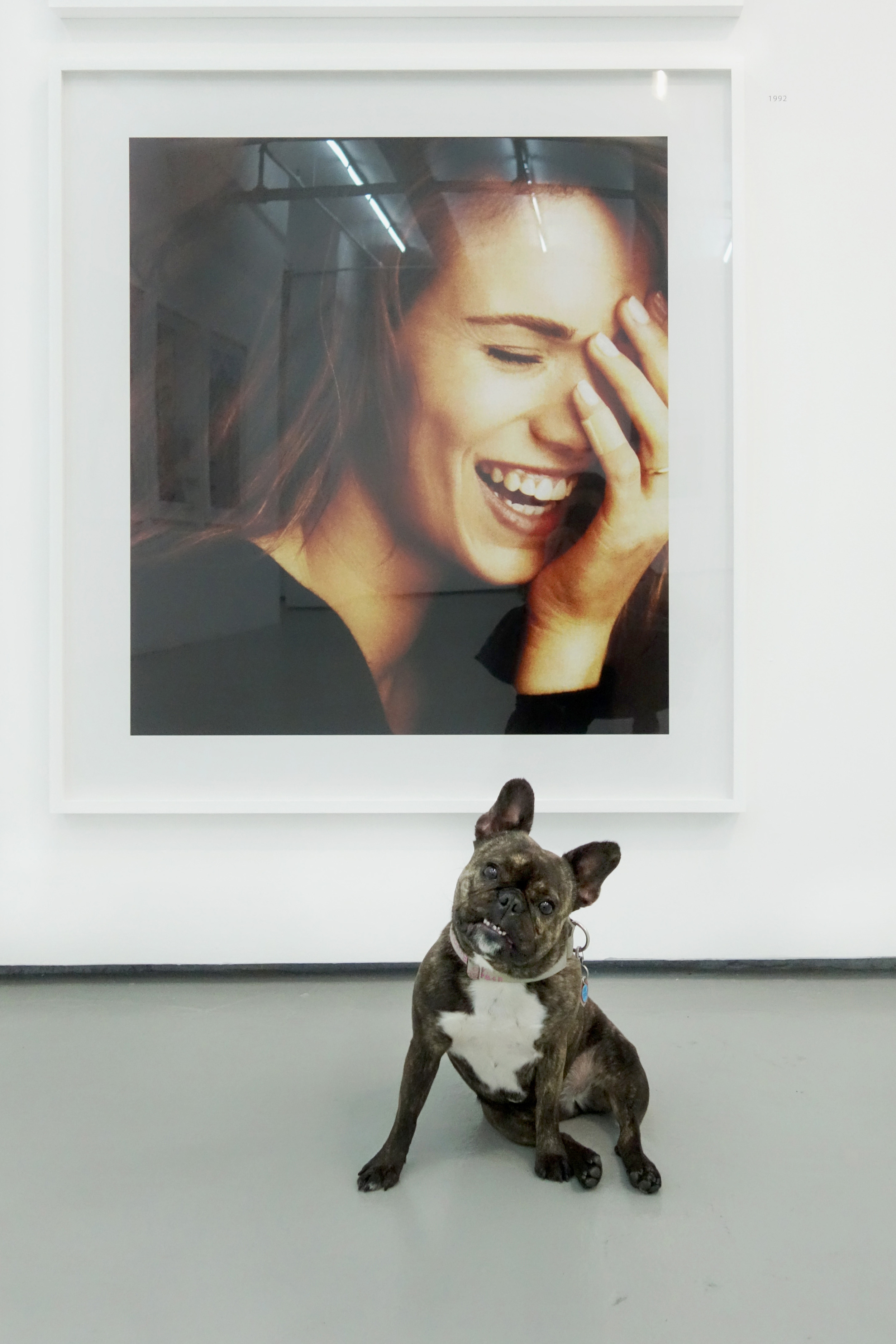 """Mom said to smile… I don't think it works for me.   Hank Willis Thomas """"Laugh it off,"""" 1992/2015, 2015 in Unbranded: A Century of White Women, 1915-2015 at Jack Shainman Gallery."""