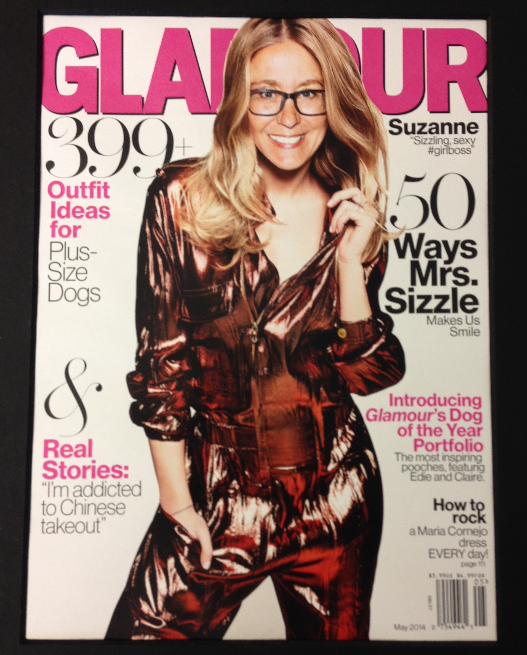 Me on the cover of Glamour magazine!