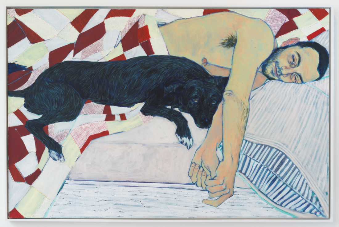 Ben and Daisy , 2015, Acrylic on canvas, 48 x 72 in., (HG0263), Courtesy: Susan Inglett Gallery, NYC., Photo Credit: Adam Reich, NYC.