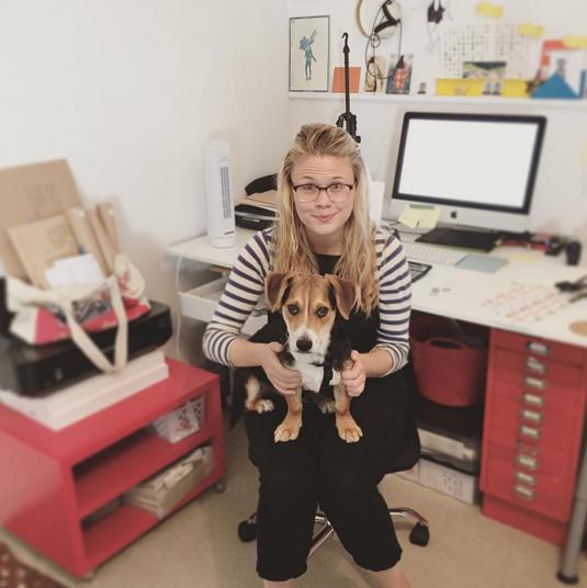 Faye and her dog   @jacktzubear