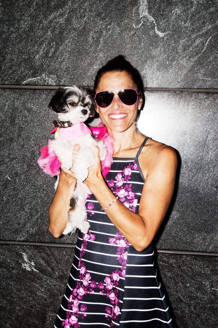 Sam Carrell and her dog Tinkerbelle,   @tinkerbellethedog