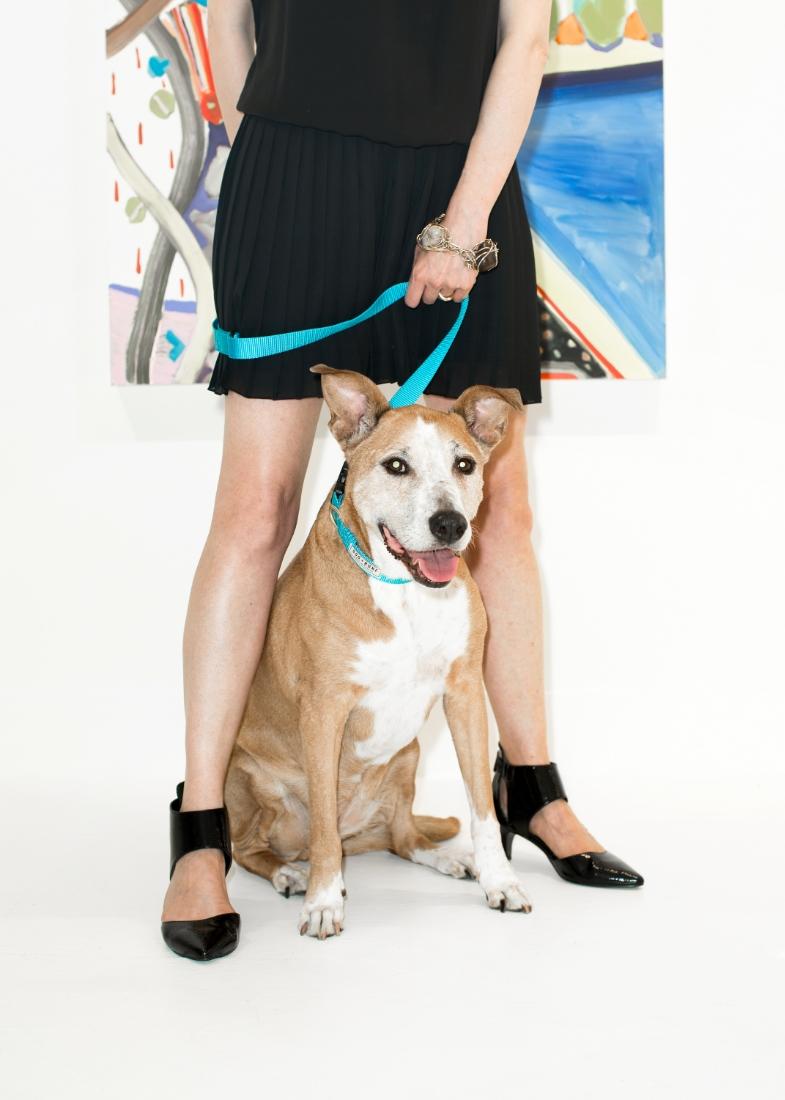 Lucie from  TURN GALLERY  in a  Dog + Bone  leash ART: Kimia Ferdowsi Kline
