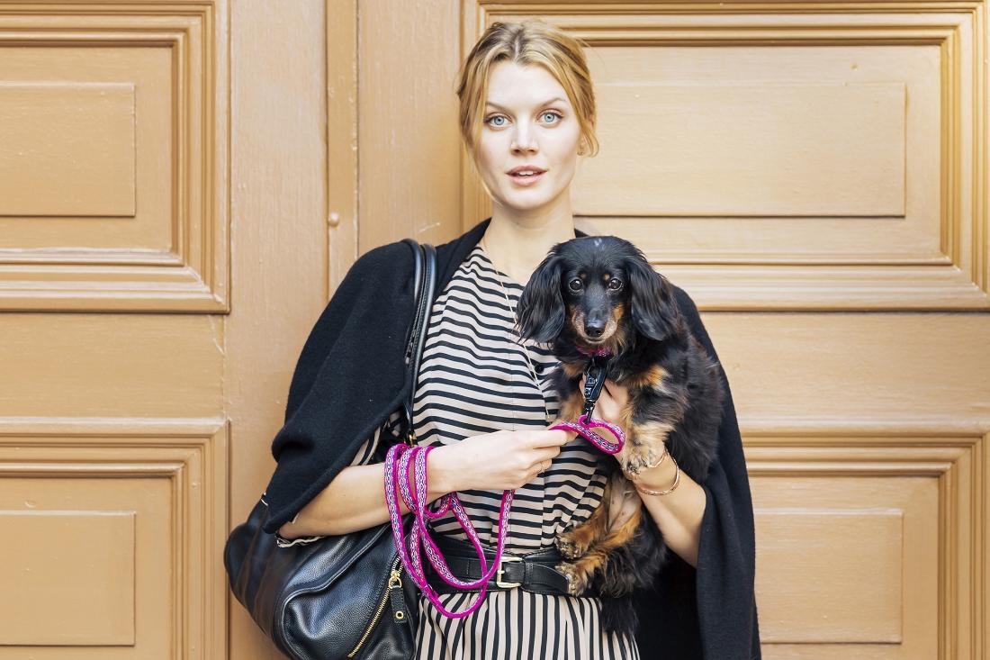 Jayne Moore/IMG and Indie. Indie wearing an  ALLKU PETS  leash and collar