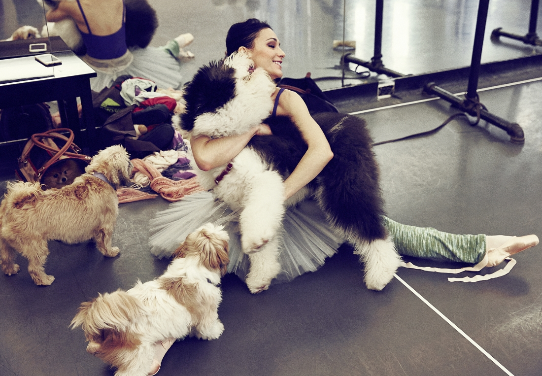 Sarah with Hudson and her two dogs Maya and Cora