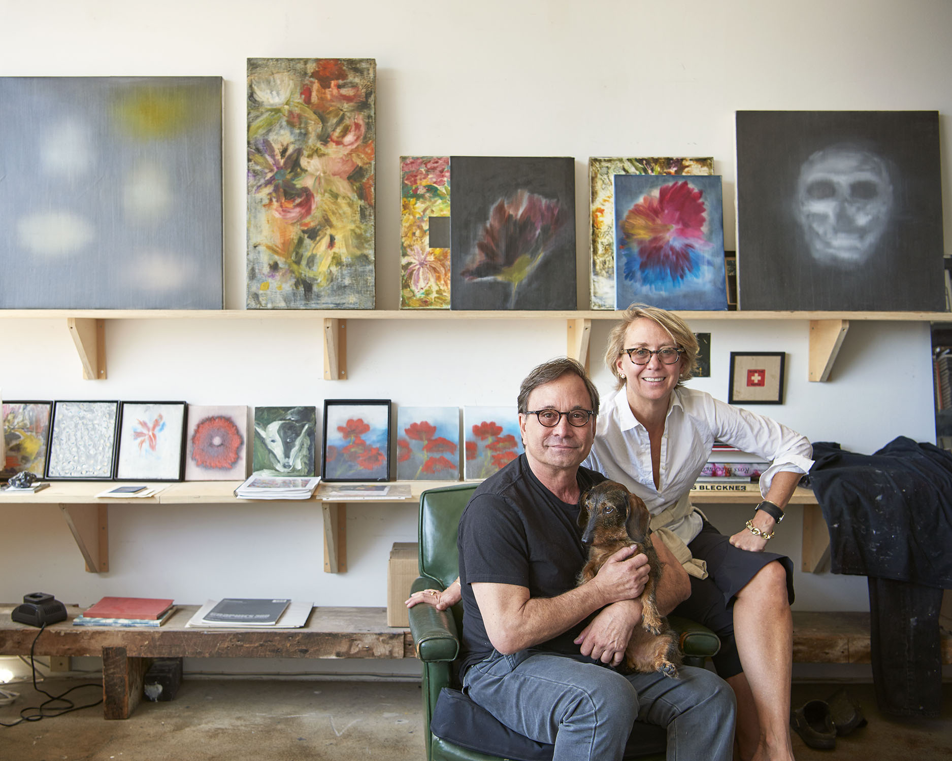 Ross Bleckner and Suzanne Donaldson photo by Jason Schmidt