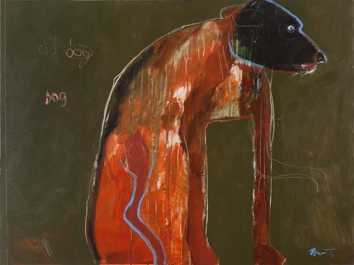 Old Dog, 2015 acrylic on canvas 36 x 48 inches
