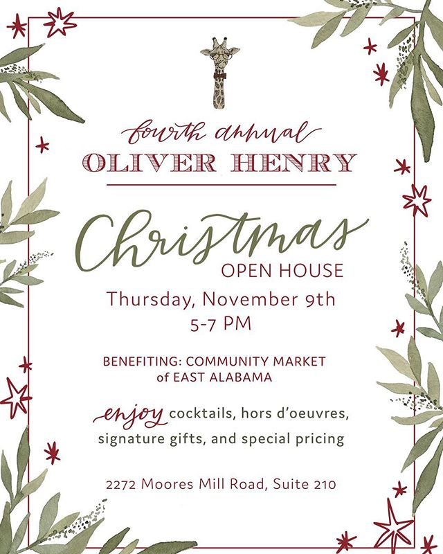SAVE THE DATE for our fourth annual Christmas open house!! We are counting down the days until it's here!!