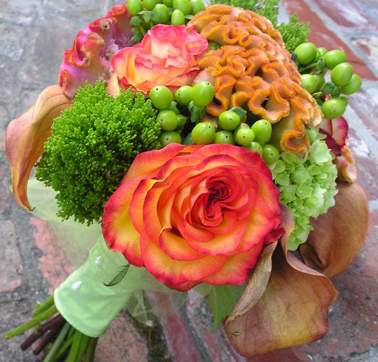 Rust & orange fall bouquet