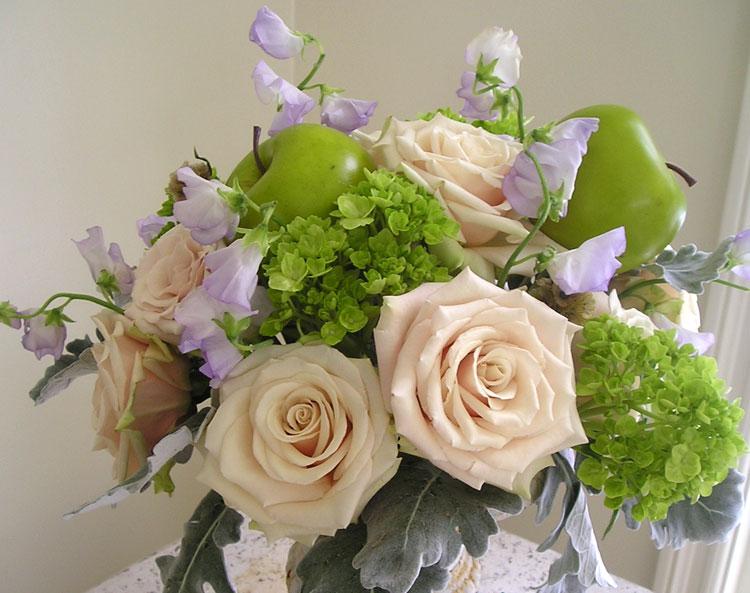Fruit themed floral arrangements