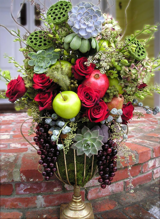 Fruits & florals holiday containers