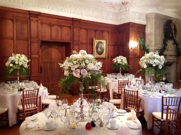 Elegant wedding reception at Turner Hill