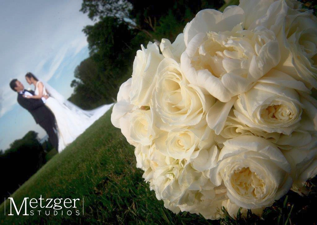 Pure White Peonies & Roses Bouquet