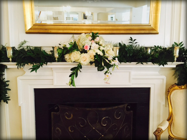 Reception Mantel Floral Arrangement