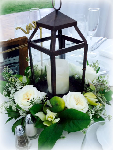 Floral Centerpieces with Lanterns