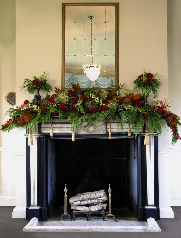 Gorgeous Holiday Mantel Display