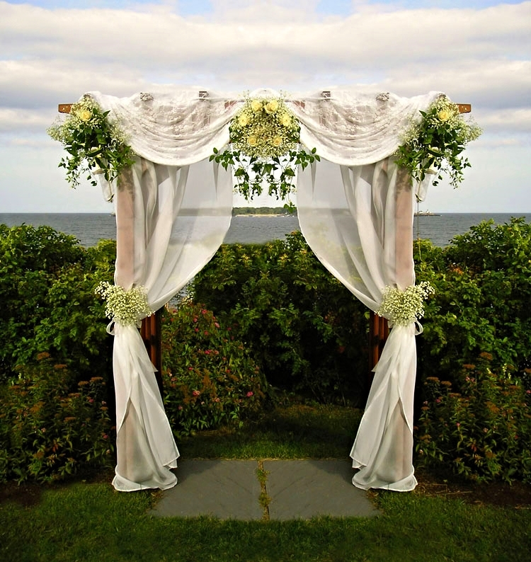 Wedding Arbor with Lace
