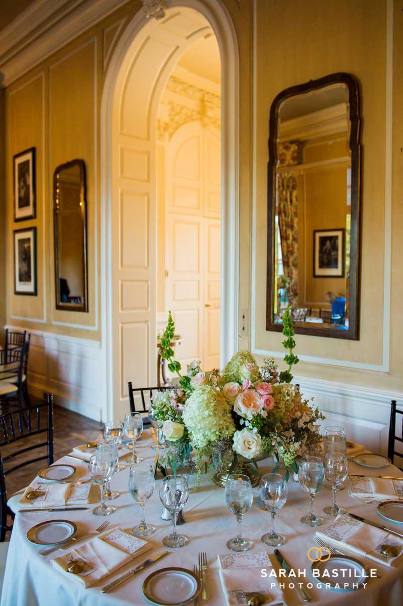 Wedding Reception Centerpieces with Hydrangeas