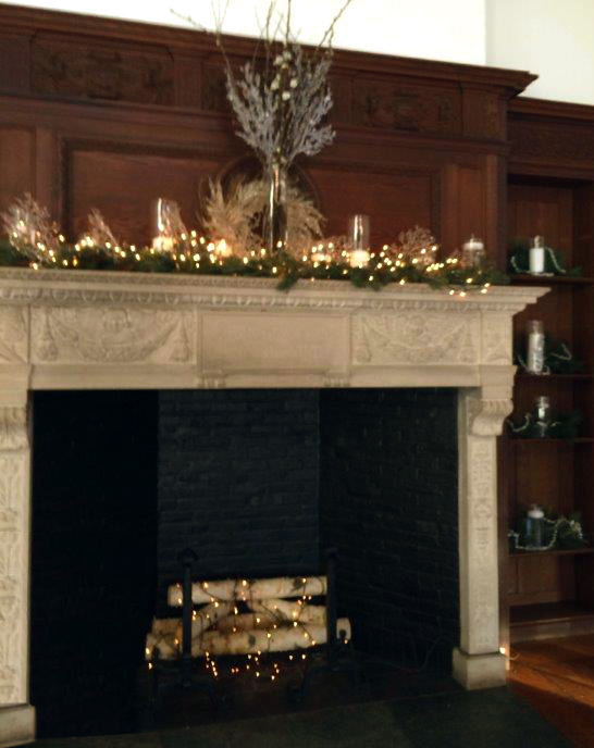 Holiday Mantel in White