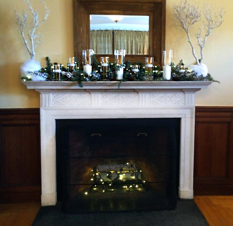 White & willowy Holiday Mantel