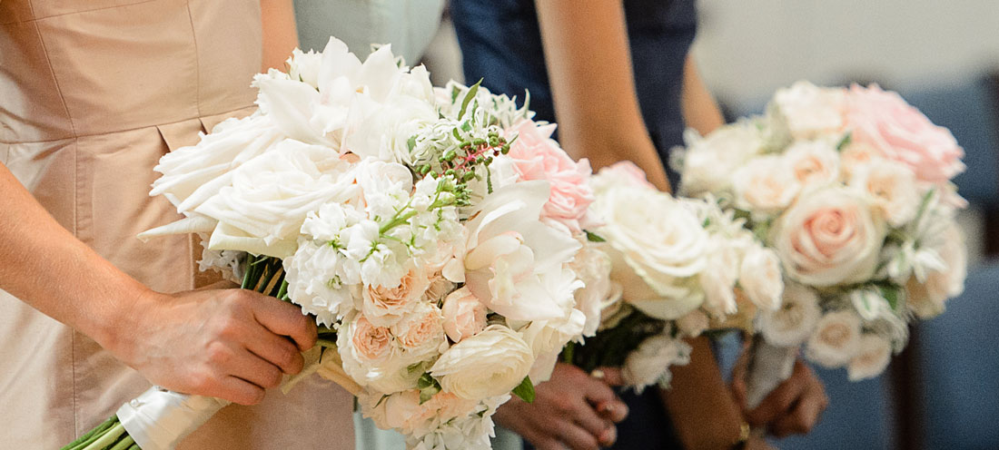 Bridal bouquets with blush roses : douglaslevyphotography.com