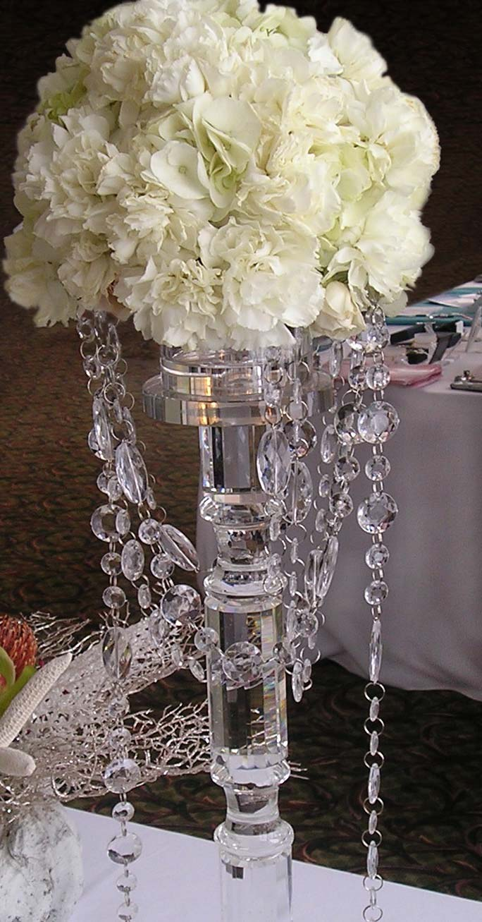 Crystal Centerpiece in White