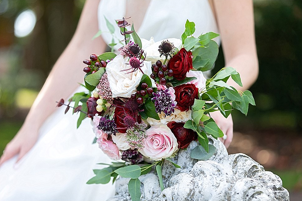Burgandy & Pink Bridal Bouquet
