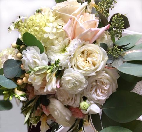 Pink & Peach Bridal Bouquet
