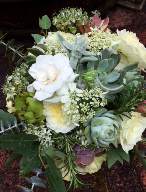 Succulants & Roses Bridal Bouquet