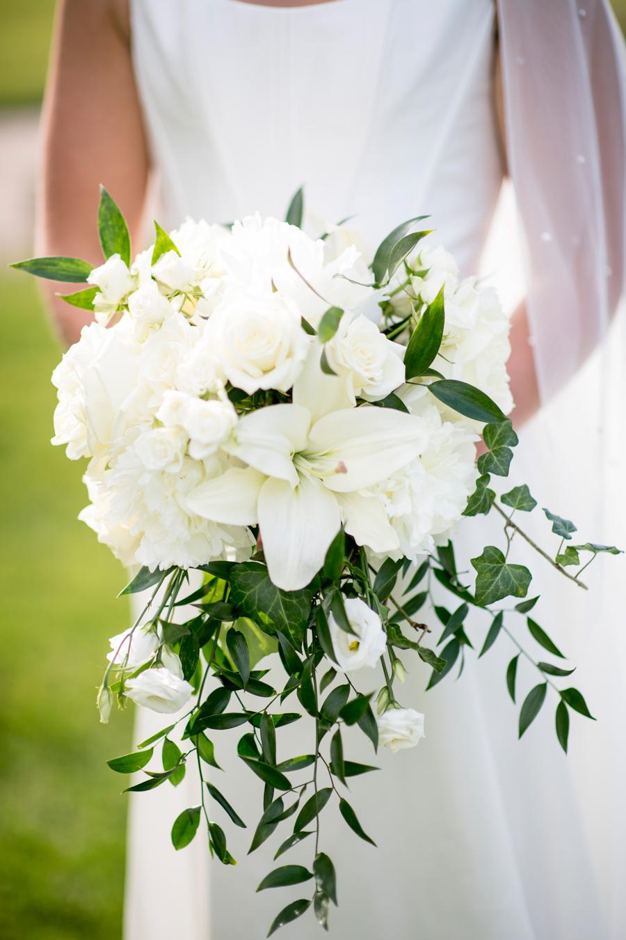 White Lillies Bridal Bouquet