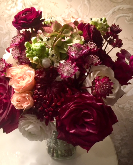 Burgandy Roses Bridal Bouquet
