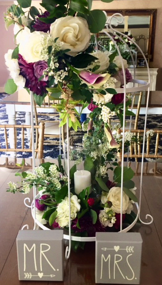 Birdcage & Flowers Centerpiece