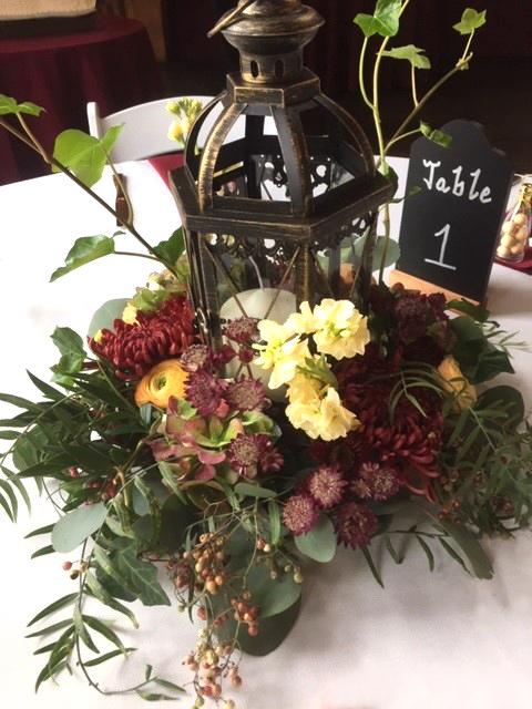 Autumn Lantern Wedding Centerpiece