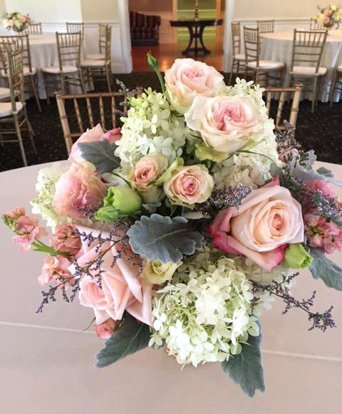 Rose & Hydrangea Wedding Centerpiece