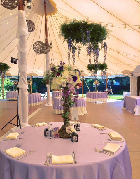 Lilac Themed Wedding Reception