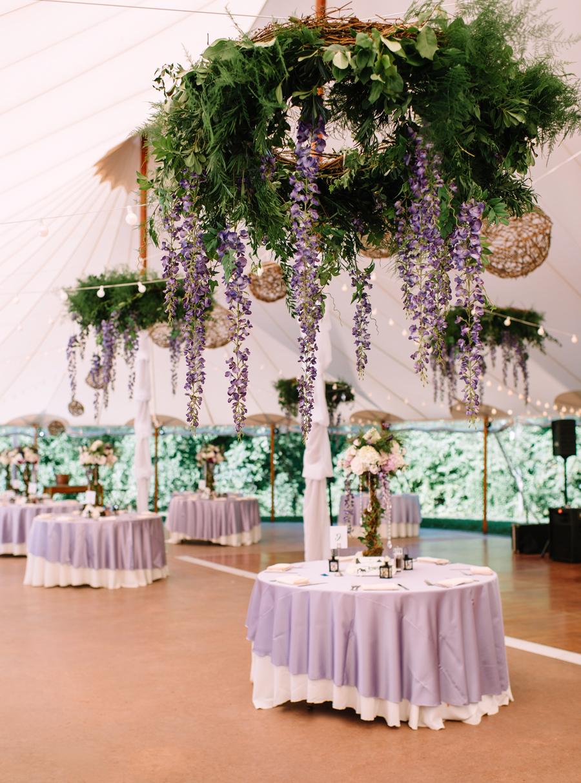 Hanging Ceiling Wedding Flowers