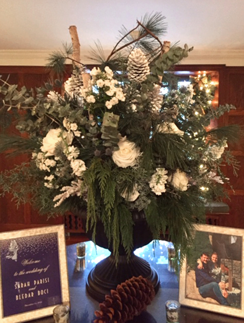 Winter Pincecone Wedding Centerpiece