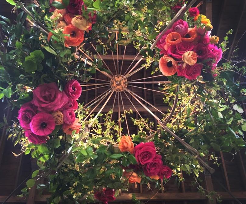 Hanging Ceiling Flower Displays