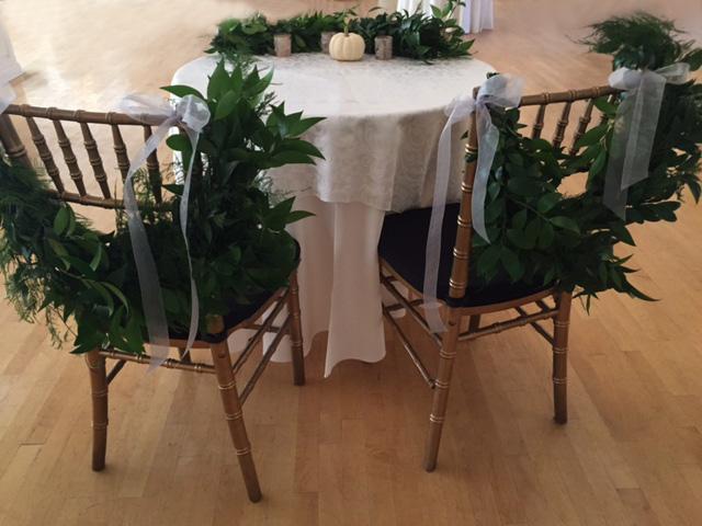 FAll White Pumpkin Sweetheart Table