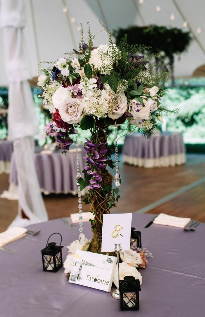 Lilac Purple Wedding Reception
