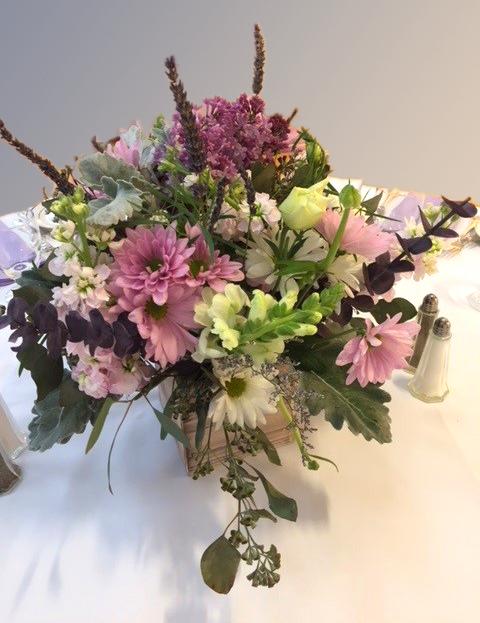 Purple Daisy Inspired Wedding Centerpiece