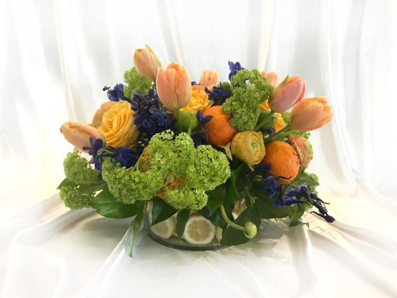 Tulip Inspired Wedding Centerpiece