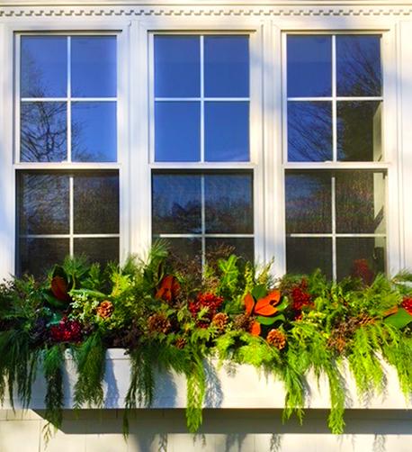 Lovely Winter Window Box Idea