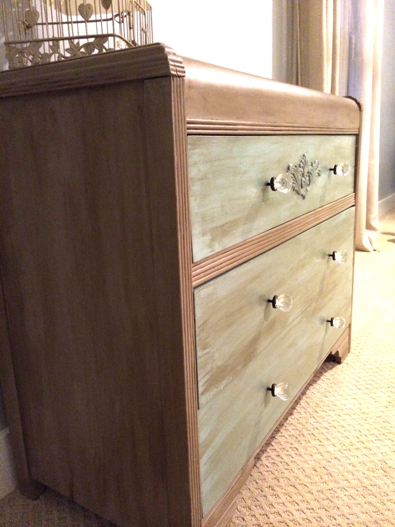 Vintage Refined Waterfall Dresser Makeover