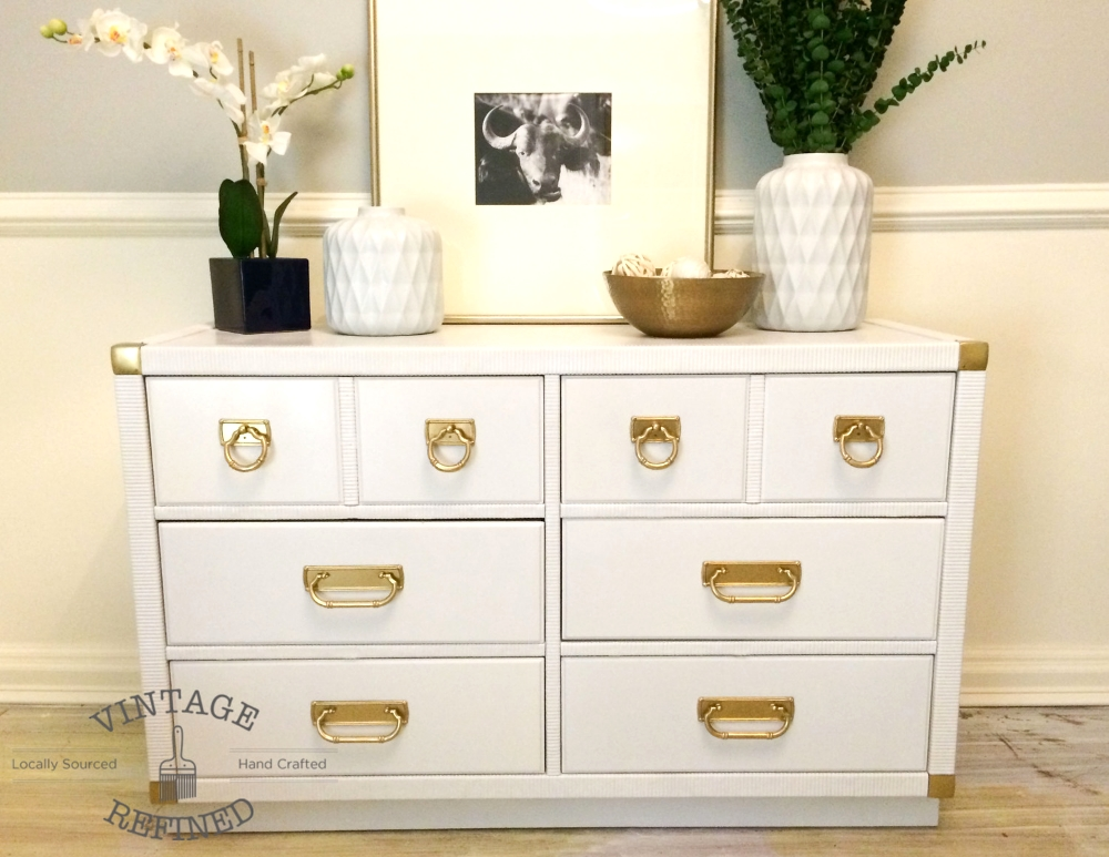 Vintage Refined White Lacquer Dresser, How To Lacquer Furniture