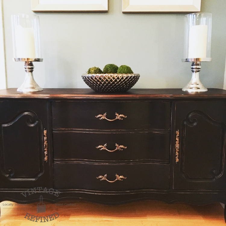 Black French Provincial Buffet, French Provincial Furniture Chicago