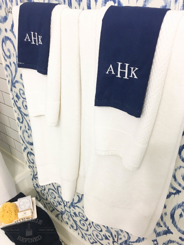 monogrammed hand towels